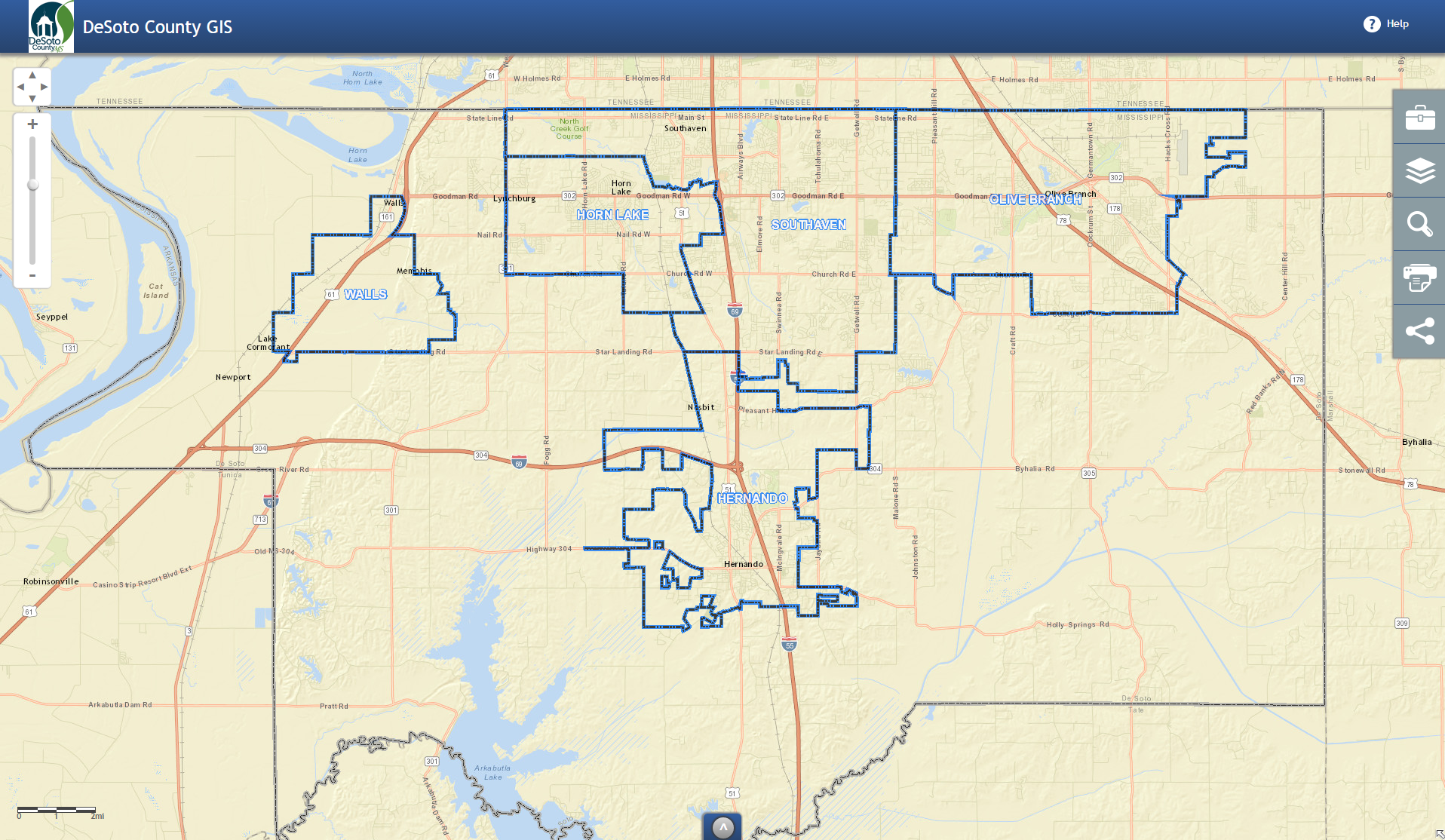 OneView DeSoto County Interactive Map
