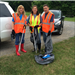 Supervisor Lee Caldwell's clean-up crew working in Nesbit