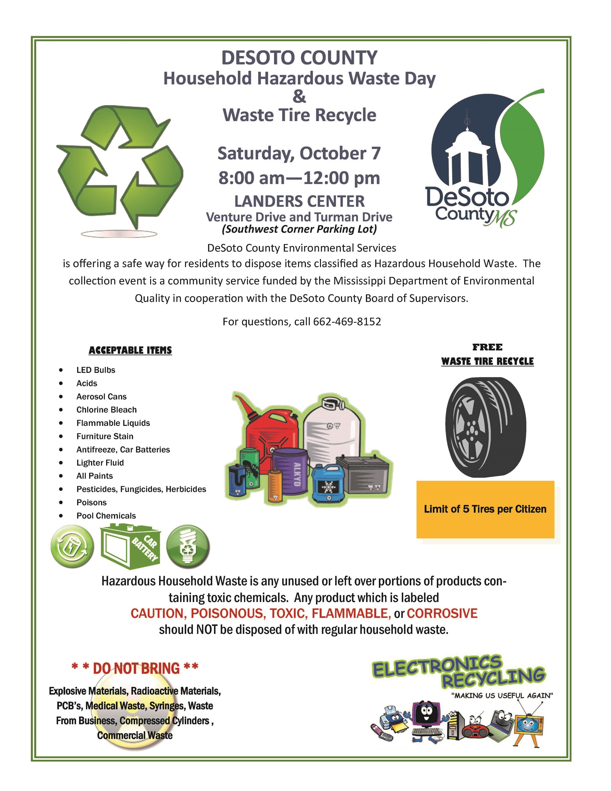 HAZARDOUS HOUSEHOLD WASTE DAY 2017 FLYER