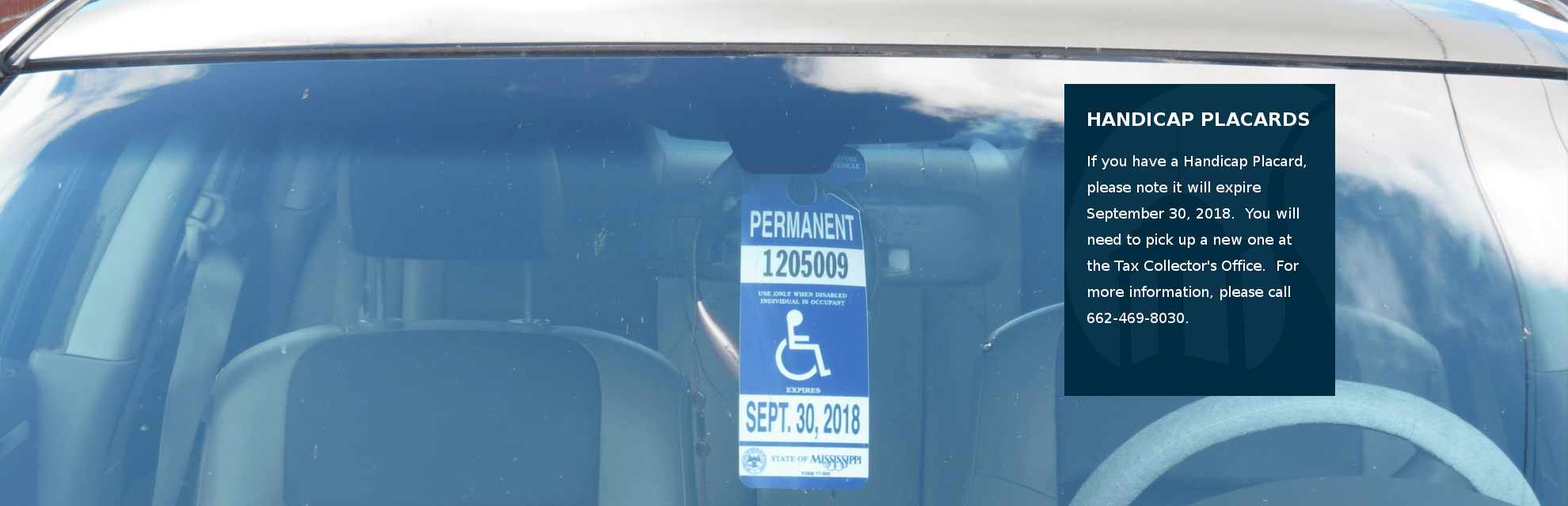 Handicap Placards Expire on September 30