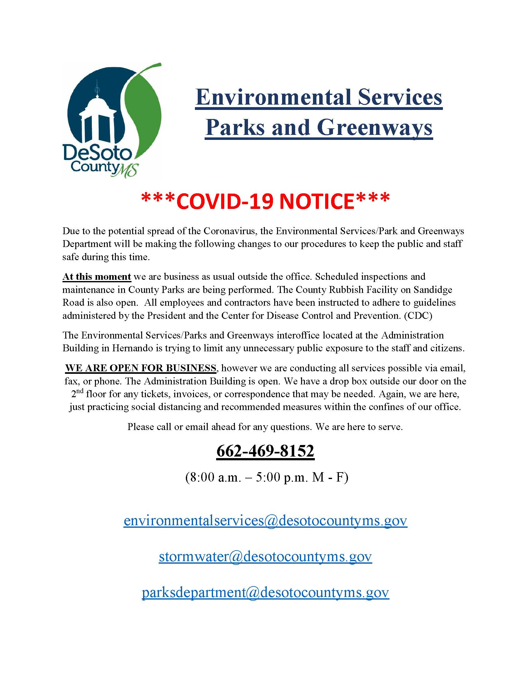 2020 COVID-19  Enviro Office UPDATE Final