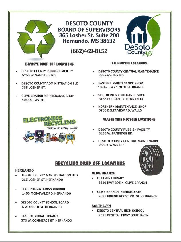 ewaste and oil recycling locations