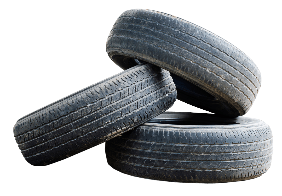 Picture of three tires stacked