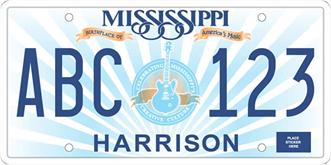Mississippi License Plate